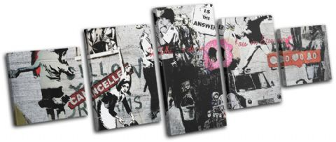 Montage Collage Banksy Street - 13-6068(00B)-MP07-LO
